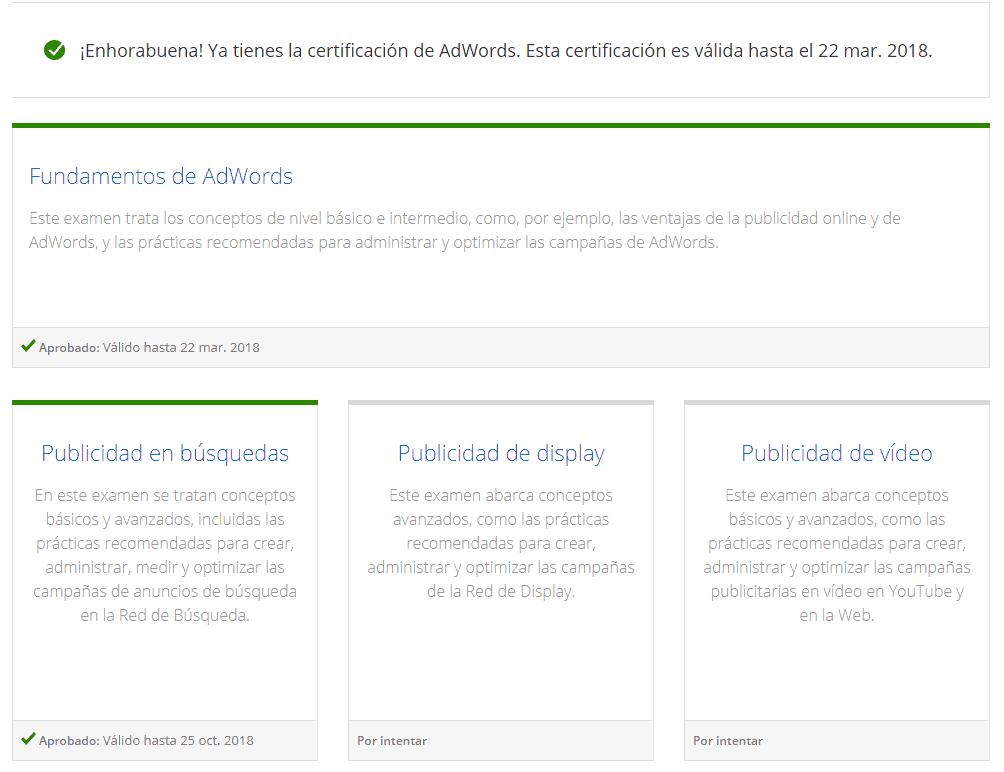 Tener un usuario certificado