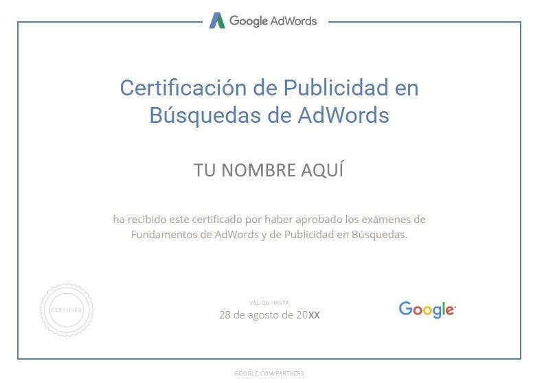 Tomar los exámenes de certificación de Google Partners