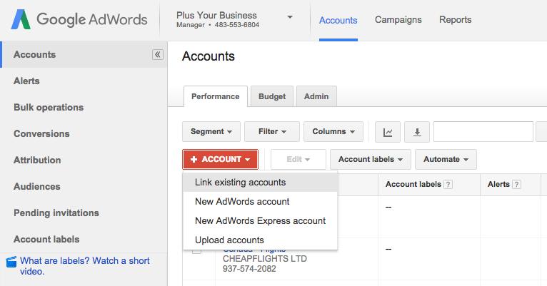 Crear una cuenta MMC administrador de cuentas de Google