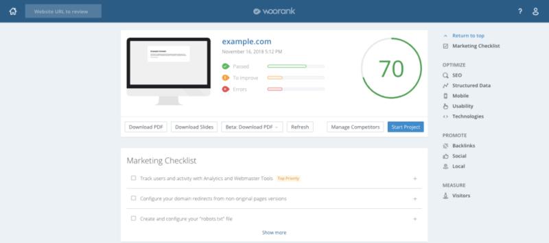 Woorank, la herramienta que también mide tu SEO