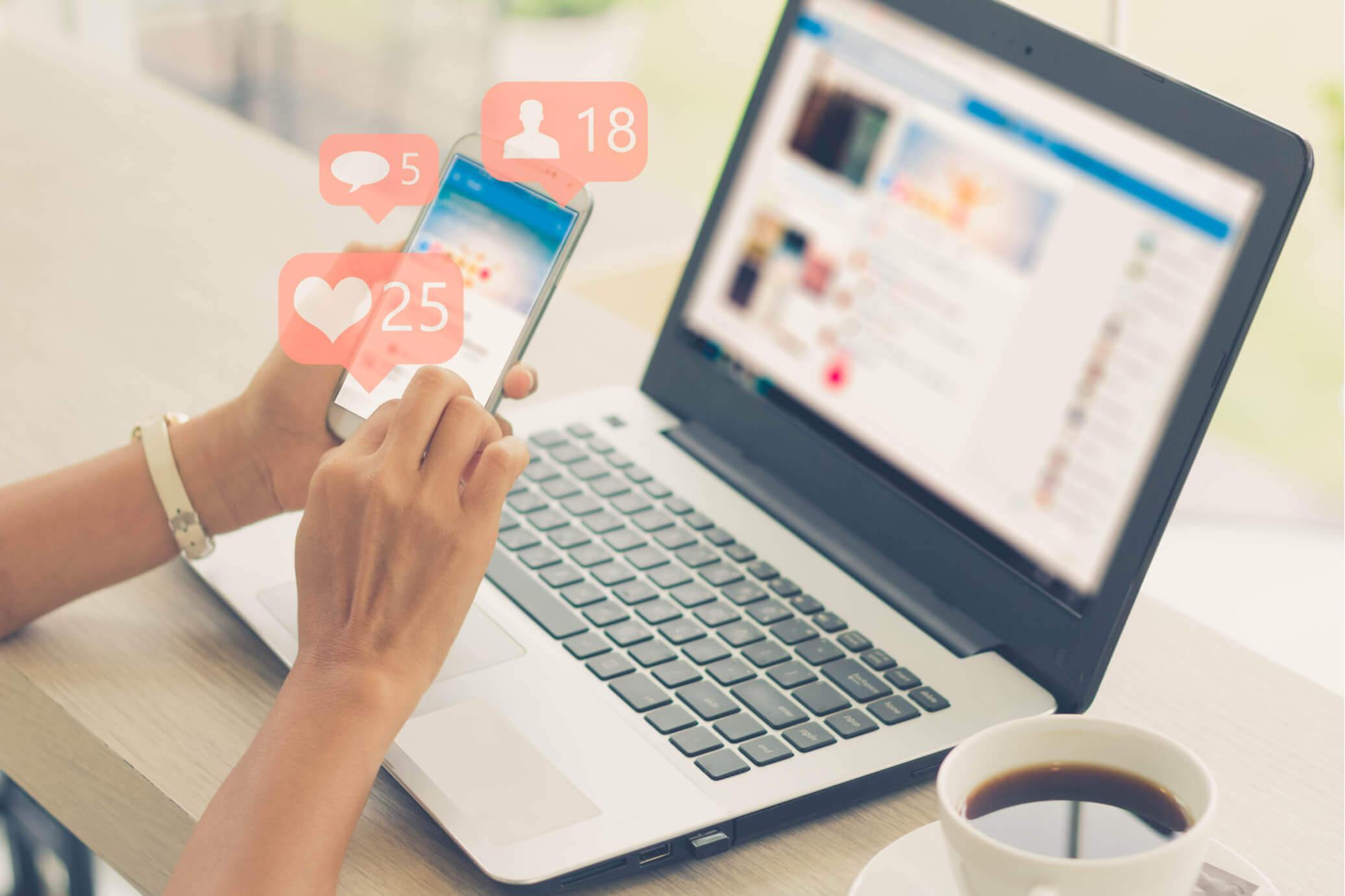 Seleccionar las redes sociales en donde harán publicidad