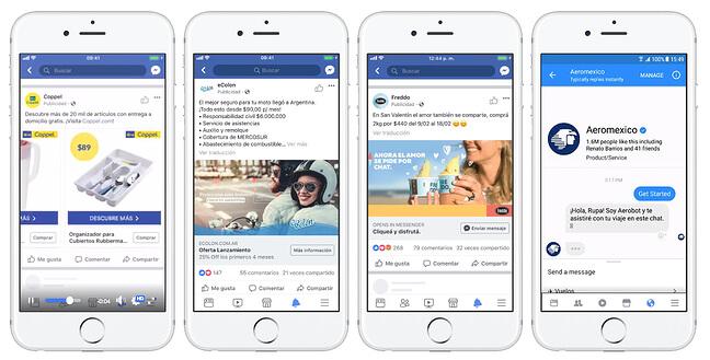 Servicio de mensajería de Messenger, WhatsApp e Instagram para empresas