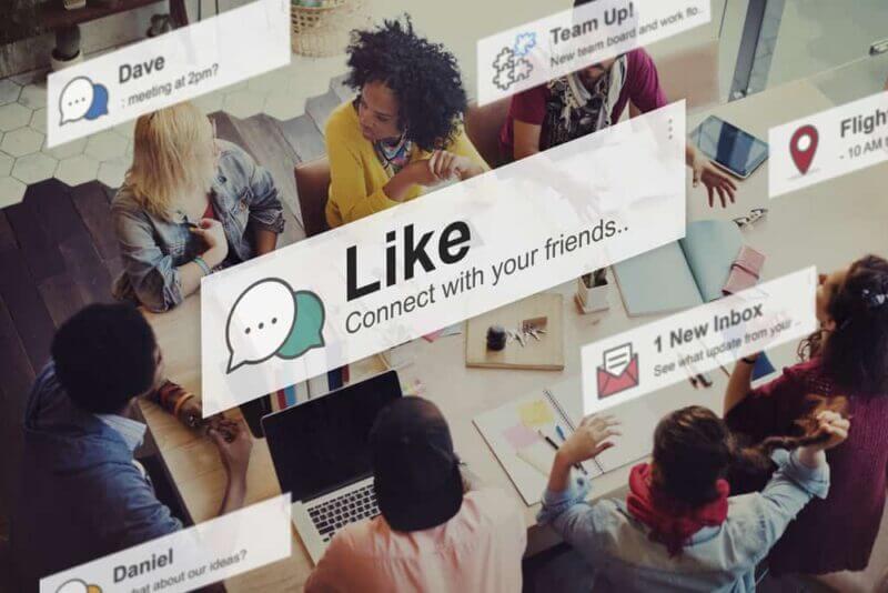 redes sociales  en tiempo real