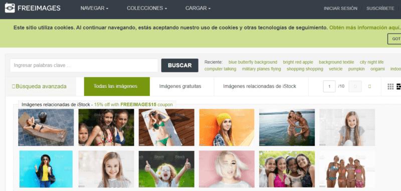 Free Images, donde puedes descargar imágenes gratis de diferentes temas