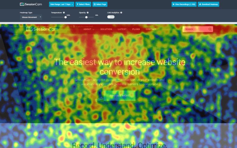SessionCam, graba el comportamiento de tus clientes potenciales en tu página web