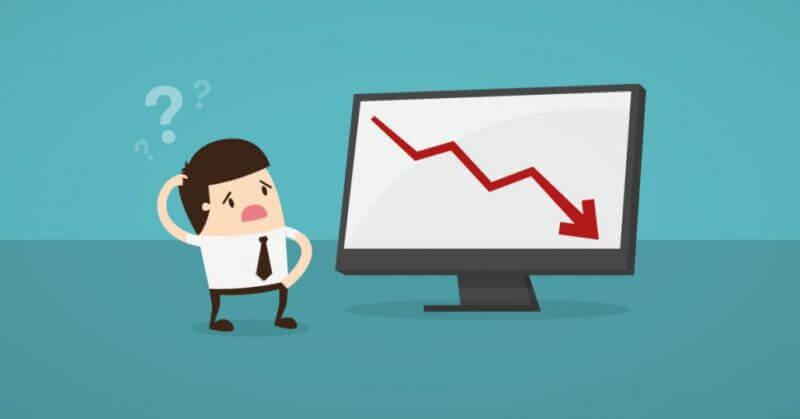 Notar que hay una baja grave del tráfico web