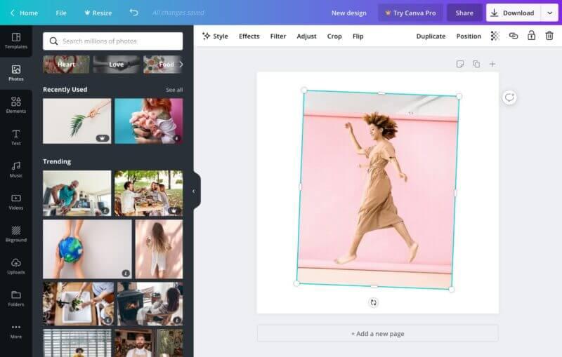 Herramientas para contenido visual